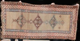 "3'4""x7'5"" Antique NW Persian Oriental Corridor Rug"