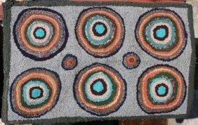 "2'x3'3"" Ca 1920 NY State Geometric (circles) Hooke"
