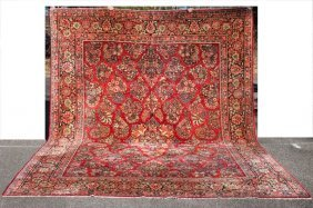 "Fine 10'2""x13'6"" Semi-antique Persian Sarouk Oriental"