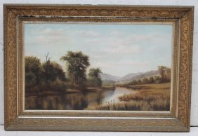 "19thc Large 24""x30"" O/c Well Executed American"