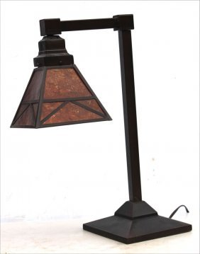 """Arts & Crafts Style Table Lamp - 21 1/2"""" Tall"""