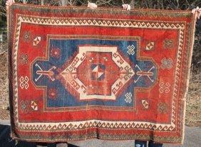 """4'10""""x6'6"""" Antique Kazak/caucasian Oriental Area Rug"""