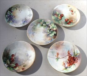 Lot Of 5 Antique T&v Limoges Beautiful Hand Painted