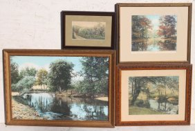 "Lot Of 4 Wallace Nutting Landscape Prints - ""a"