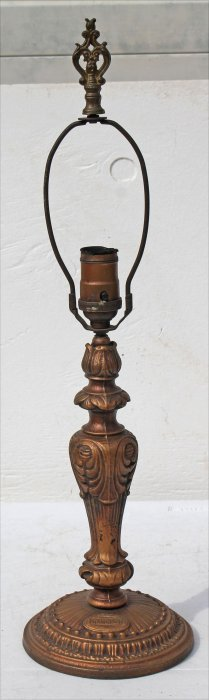 """Very Rare Sgnd Atwater Kent Lamp Base - 21 1/2"""" Tall -"""