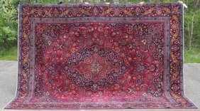 "Fine 9'3""x12' Semi Antique Persian Mashed Oriental Rm"