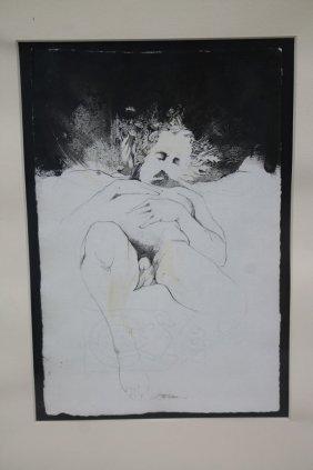 """Sgnd Barry Moser 9 1/2"""" X 6 1/2"""" Pen & Ink & Wash Self"""