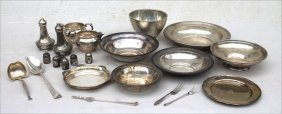 Lot Of Sterling Silver Incl Bowls, Plates, Salt &