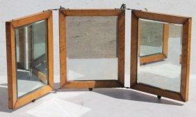 Turn Of The Century Triple Folding Dresser Mirror In