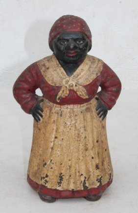 "Ca 1920 Cast Iron ""southern Mammy With Hands On Hips"""