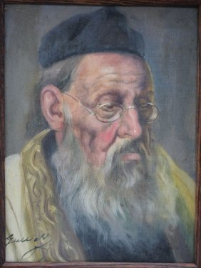 """Sgnd On Stretcher Guszich 12""""x9"""" O/c Portrait Of A"""