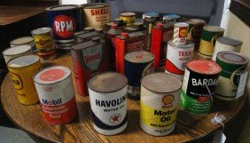 Collection Of Approx 33 Vintage Oil Cans