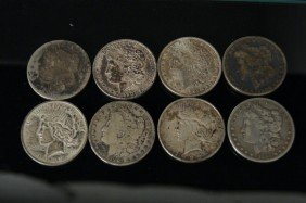 8 - 1898 US Silver Dollars Without Cases