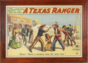 """""""A Texas Ranger - The Greatest Show Of The Plains"""""""