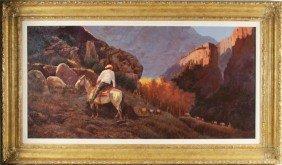 """Bill Bender  24""""x48"""" Oil/board  Western Landscape"""