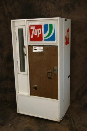 Vintage 20c 7 Up Vendorlator Vending Machine Lot 56