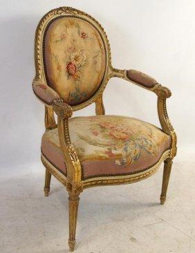 19th C. French Louis Xvi Parlor Chair