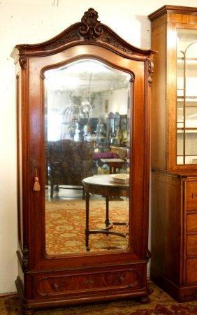 French Louis Xvi Armoire - Single Door Beveled