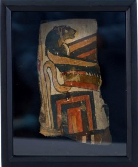 Ancient Egyptian Cartonnage Panel- 18th Dynasty