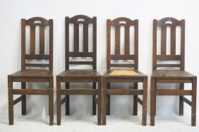 Stickley Furniture Table #132 And 4 Chairs