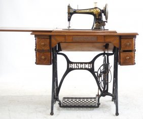 Antique Singer Sewing Machine Egyptian Motif