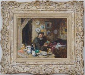 Jules Rene Herve (1887-1981) Oil On Board