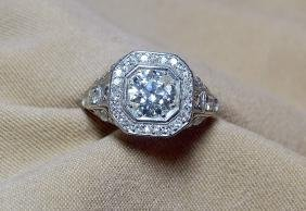 Platinum-set Diamond Dinner Ring.
