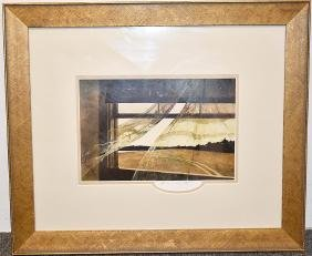 Andrew Wyeth Pencil-signed Print, Wind From The Sea