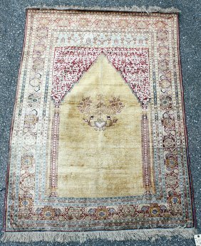 Tabriz Silk Prayer Mat