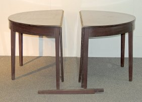 Federal Mahogany Two-part Dining Table