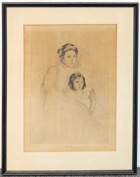 Mary Cassatt Etching: Mother And Child