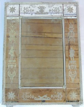 Venetian Eglomise Glass Mirror