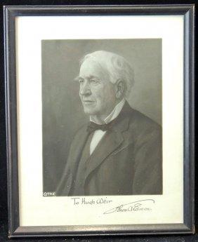 Autographed Thomas Edison Photograph