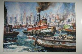 John Whorf, American (1903-1959) Watercolor