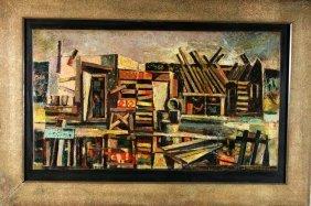 Julius Woeltz, American (1903-1959) Oil