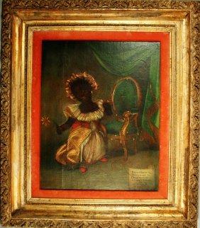Rare Haitian Oil Painting-Xaviar Gazul