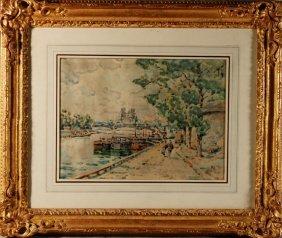 Paul Signac, French (1863-1935) Watercolor