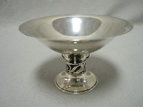 Small  Durham Footed Sterling Silver Bowl