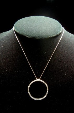 18KWG & Diamond Necklace By Roberto Coin