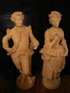 French Life Size Terracotta Sculptures