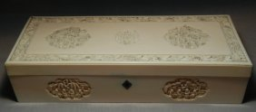 19thc. Carved Ivory Box