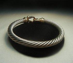 David Yurman 14KYG & Silver Bracelet