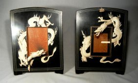 19thc. Japanese Lacquer & Ivory Frames