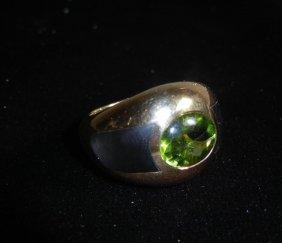 Mauboussin Paris 18k Yellow Gold Peridot Ring