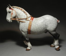 Beswick Shire Horse With Accessories