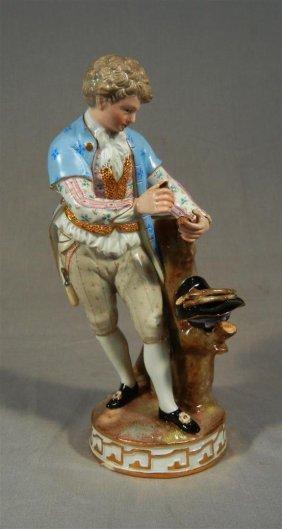 Meissen Figure Of Boy Collecting Wood