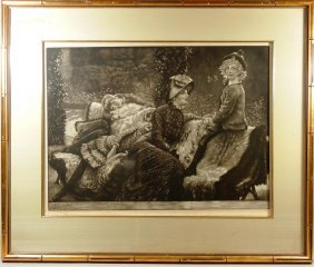 James Jacques Tissot, B&W Etching