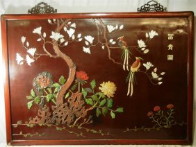 19thc. Ivory & Mother Of Pearl Wall Screen