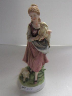 Porcelain Figurine- Bisque-girl