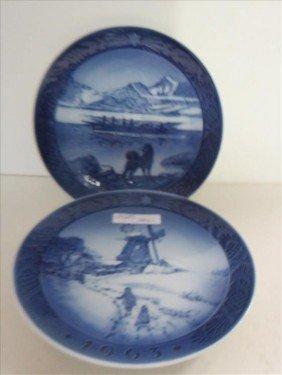 2 Plates-Royal Copenhagen
